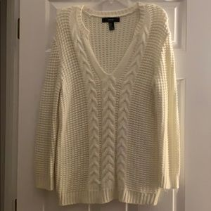Forever 21 slightly off white sweater